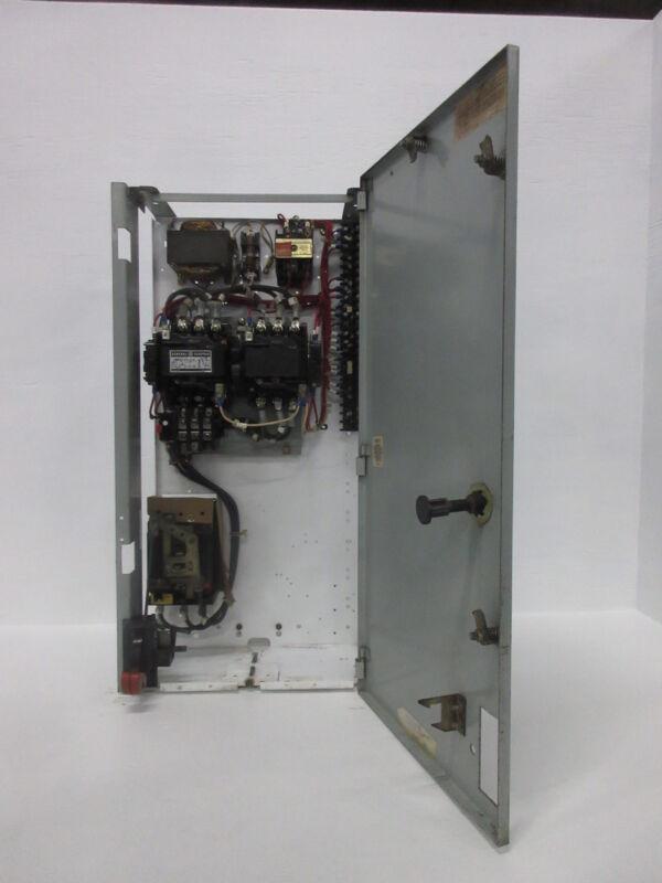 "General Electric GE 8000 Size 2 Reversing Starter 50 Amp Breaker 30"" MCC Bucket"