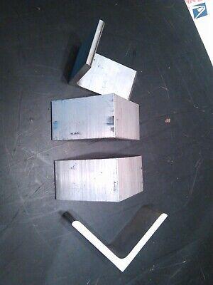 Lot Of 4 Aluminum 516 Thick Corner Angle Brace Support Bracket 3-12 L X 2 W