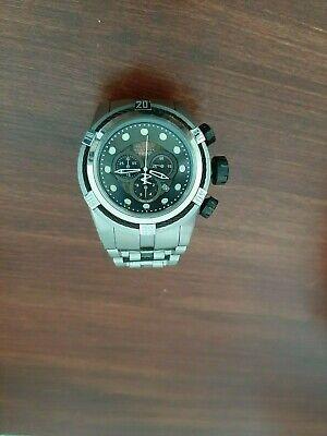Invicta Bolt Zeus Swiss Reserve Chrono Black Dial Steel Watch 0820