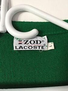 Vintage Large Mens Lacoste Cardigan  (Green) Cambridge Kitchener Area image 4