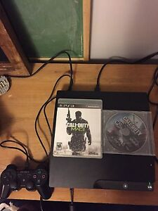 PS3 system with controller and games
