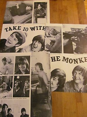 The Monkees, Three Page Vintage Clipping