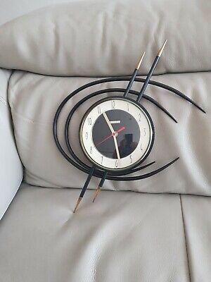 French 1960s bayard cosmic wall clock