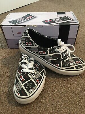 Vans Adult Size 5 Nintendo Controller Shoes/trainers With Box..