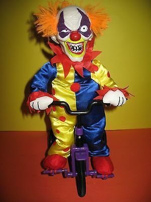 EVIL SCARY CLOWN ON TRICYCLE - TALKS - MOVES - PEDALS - BIKE/TRIKE - BRAND NEW !