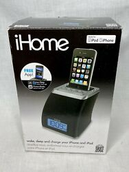 iHome iP21 iPhone iPod Alarm Clock Charging Audio Docking Mini Speaker