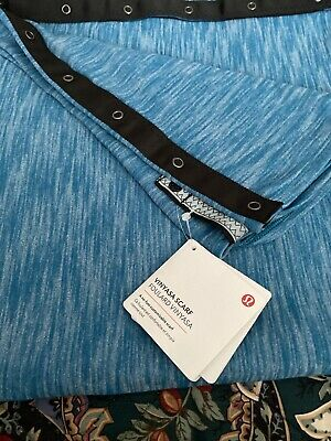 Lululemon Vinyasa Wrap Scarf Blue Snap New With Tags