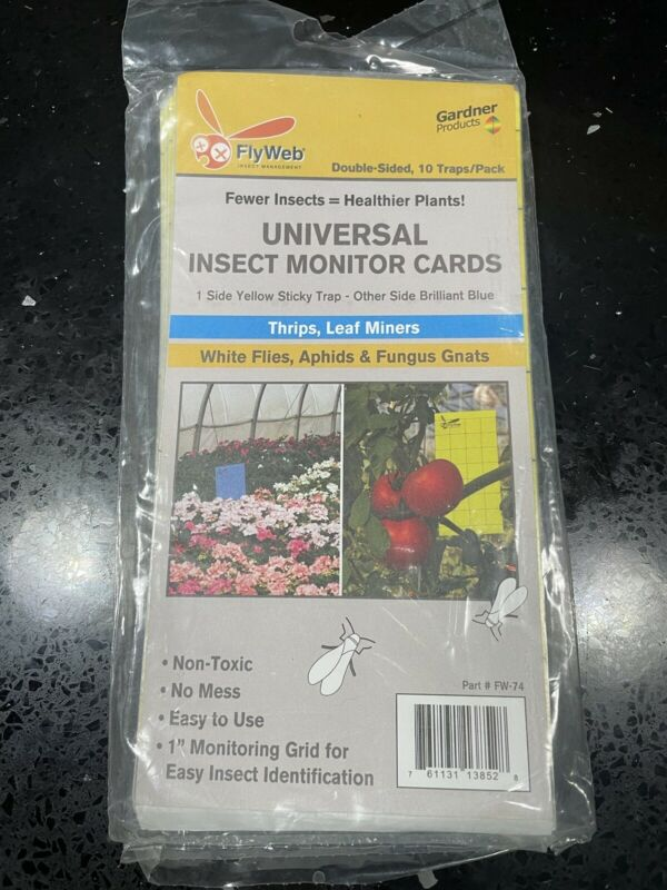 FlyWeb Insect Monitor Cards - 10 Pack/Traps
