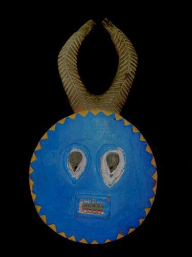African Goli Horned Mask Akan Tribe Ivory Coast African Mask (2698 - N)