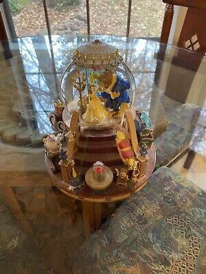Rare Collectible Disney Beauty And The Beast Musical Snow Globe