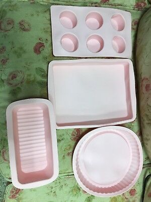 (Unused COOKS PINK(Kitchen Aid Cuisinart)Silicone Cook Ware Baking Bake Set)