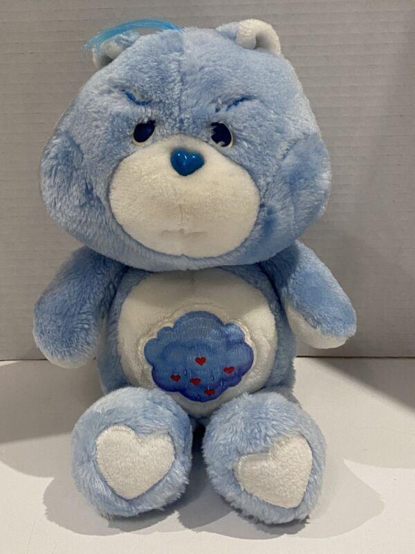 "Vintage 1983 Kenner Grumpy Care Bear Blue Plush Rain Cloud Hearts 13"""