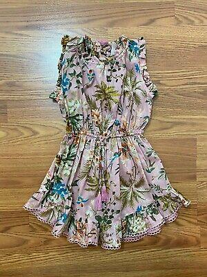 Zimmermann Kids Cotton Floral Dress in Pink Size 4Y