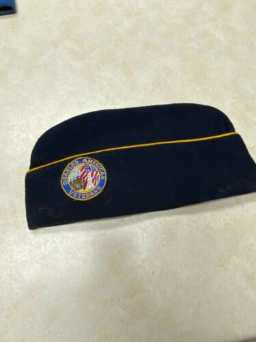 Vintage Disabled American Veterans Garrison Hat - Size 6 7/8