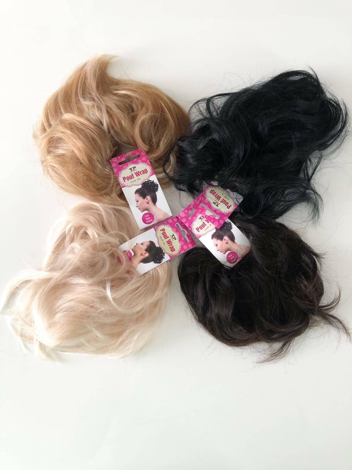 Scrunchie Extensions Haargummi Dutt Haarverlängerung Haarteil Hochsteckfrisur