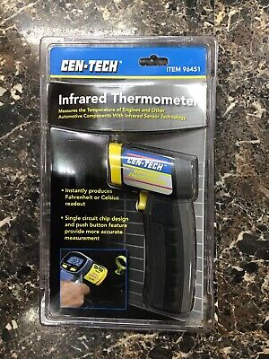 Brand New Cen-tech Infrared Thermometer With Battery 96451
