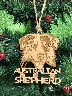 Australian Shepherd Christmas Ornament & 2 FREE MAGNETS Australian Shepherd Christmas Ornament
