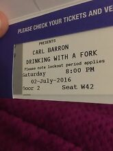 2 x Carl Barron tickets QPAC $100 for both tickets Caboolture Caboolture Area Preview