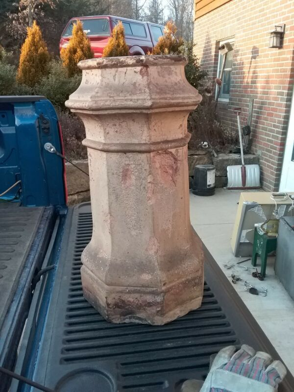 Antique Victorian Ohio Sewer Pipe Chimney Top Architectural Salvage Topper RARE