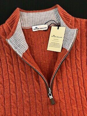 Peter Millar Crown Fleece Cable Knit Sweater Baby Wool Yak Cashmere Blend $295 Knit Wool Blend Sweater
