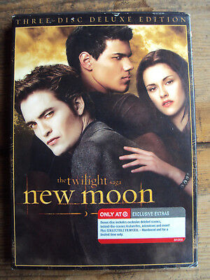 The Twilight Saga  New Moon Dvd 3 Disc Deluxe Edition Target 2010  D Film Cell