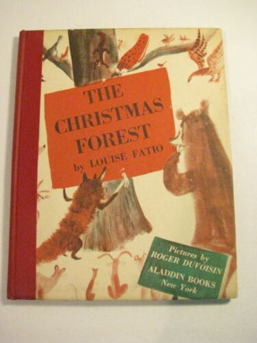 """🎄 Vintage """"The Christmas Forest"""" By Louse Fatio ~ HC Children"""