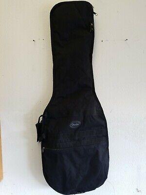 FENDER ACOUSTIC GUITAR SOFT PADDED GIG BAG CARRY CASE BLACK - SIZE MEDIUM