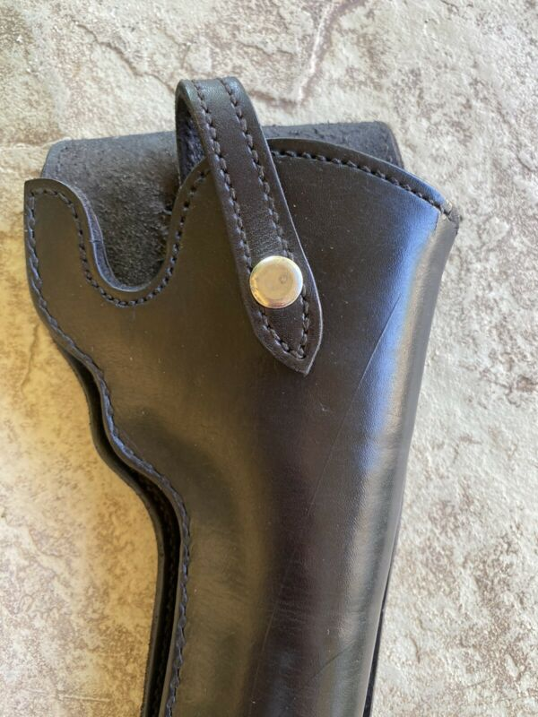 Vintage  Black Leather Holster Hand Made In Mexico