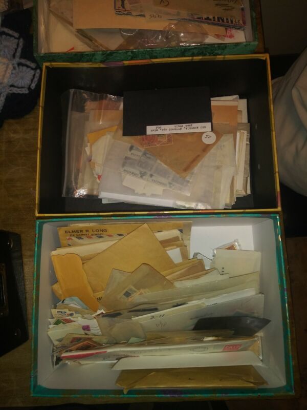 US Stamp and cover Grab Bag Lot (8-12 oz) 1800s-2000s