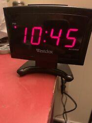 Westclox 70014A Digital LED Alarm Clock RED Display PLASMA TV Inspired