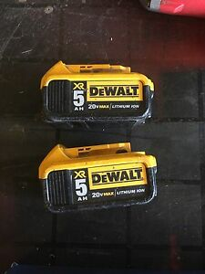 Dewalt XR5 lithium ion batteries