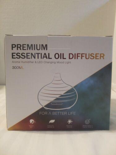 ASAKUKI 300ml Premium Essential Oil Diffuser & LED Changing