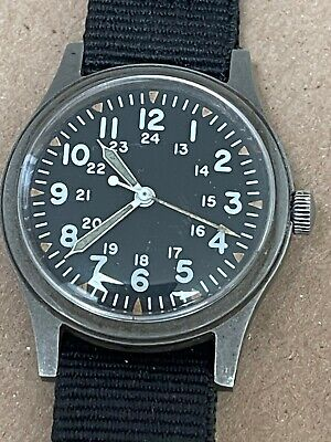 Vintage Hamilton GG-W-113 US Military Watch July 1980 Hacking 39986