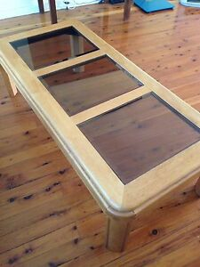 Large timber and glass coffee table Richmond Hawkesbury Area Preview
