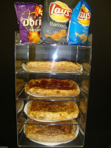 """Displays2buy 8"""" Pizza Showcase Retail Store Acrylic Display Cases"""
