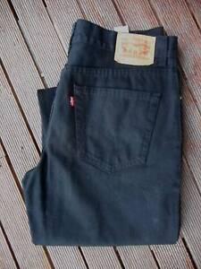 LEVIS 504 Black Straight Leg - Waist 36 Leg 34
