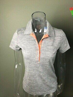 ICEBREAKER  Women's  SS Polo Shirt Merino Wool  SZ XS