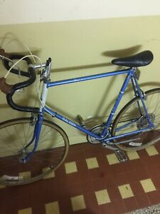Blue Raleigh bicycle Record