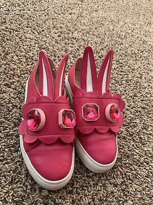 Minna Parikka Girls Pink Bunny Ears Shoes Size EURO 32/US 1 VGUC
