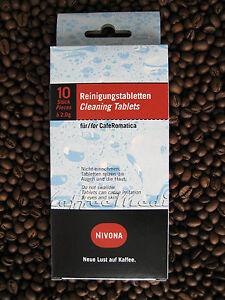 62,00 €/100 g * Nivona Reinigungstabletten NIRT 701 / = 10 Tabs für CafeRomatica