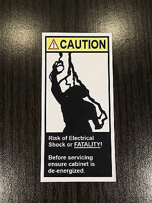 Raiden Caution Electrical Shock Fatality Vinyl Sticker Mortal Kombat Arcade
