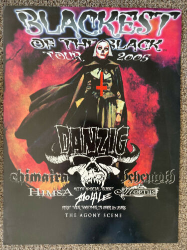 Danzig Blackest Of The Black Tour Official Poster Misfits Doyle Behemoth 2005