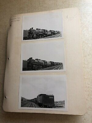 Over 350 1950's Railroad Train Snapshot Photos 4 X 6 Pictures Lot Free -