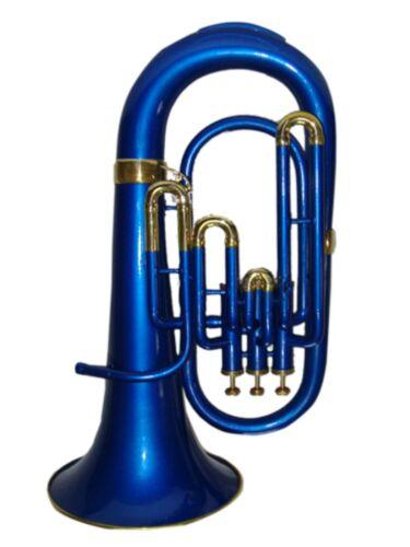 Brand New BLUE BRASS Bb FLAT Euphonium Free HARD Case+Mouthpiece
