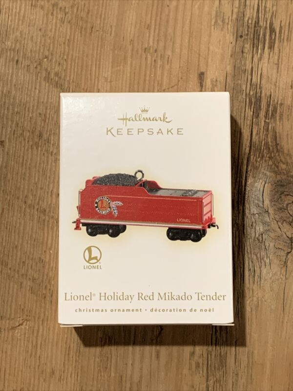 "Hallmark 2009 ""LIONEL HOLIDAY RED MIKADO TENDER"" TRAIN Ornament"