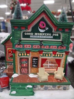 New 2017 Lemax Christmas Village  Good Morning Joe Coffee Shop House  Tea Nib