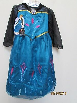 New girl size 4-6 Disney Frozen Elsa Coronation Dress Black Costume Halloween  - Girls 2017 Halloween Costumes