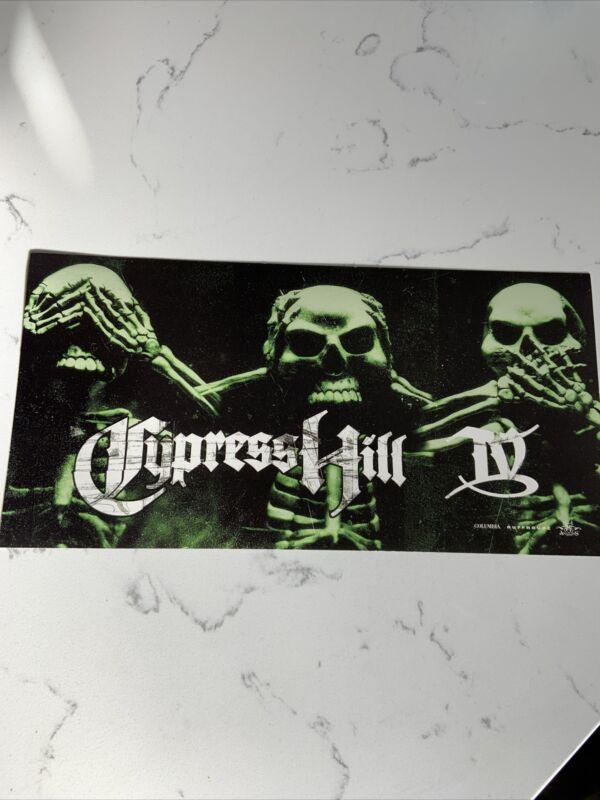 Vintage 1998 Cypress Hill IV Promo BIG Sticker Hip Hop Promotional 10x5.5