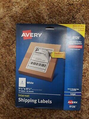 Avery Trueblock Shipping Labels 5-12 X 8-12 46 Labels 8126