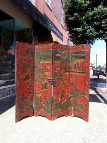Outstanding Chinoiserie Dressing Screen 18thc